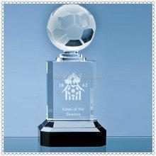 23cm Mounted Optical Crystal Football Column Award