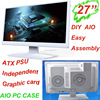 """All in one pc 27""""LED monitor DIY computer hardware AIO pc case gaming easy assembly"""