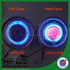 Angel Eyes Headlight With CCFL Demon Eyes Motorcycle Led Projector Lamps Hid Head Light
