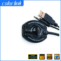 hdmi to vga converter cable with audio for PC DVD HDTV