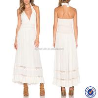Free transform style high quality tall women elegant muslim wedding dress with lace trim panel