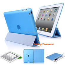 1 Pair/lot 1 PC PU Leather Magnetic Smart Cover +1 PC Hard Back Case For iPad 2 iPad 3 iPad 4 Multi-Color