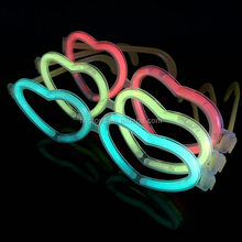 Christmas Fluorescence Heart Glowing Glasses