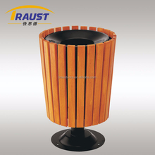 58L wooden top opening outdoor dustbin