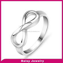 Top Quality 925 Sterling Silver Infinity Ring Endless Love Symbol Wholesale Fashion Rings For Women