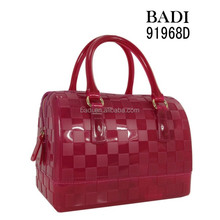 Best selling candy mini jelly bag embossed plaid pattern tote bags for women small MOQ