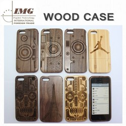 Alibaba china Real Natural Bamboo Wood case for iphone 5s, two parts for iphone 5s case innovative wooden case