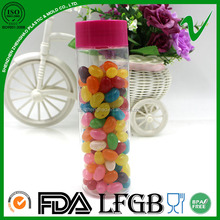 High Quality Plastic 200ml Food Grade Clear Round Plastic Candy Sweet Jar And Bottle