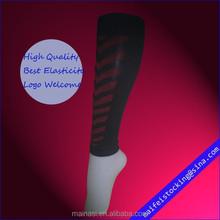 2014 good quality 15-25mmHg custom sports leg sleeve