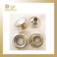 stainless steel made press studs button in original color silver