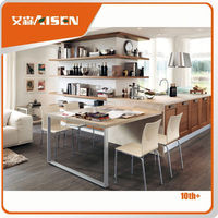 Professional mould design factory directly modern design mdf door laminated finish kitchen cabinets