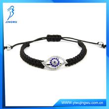 Most popular black cord macrame evil eye bracelet stocking