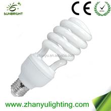 2015 half spiral energy saving bulb low price CE/RoHs China factory