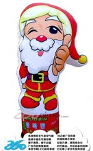 HD digital printing portfolio inflatable cartoon Santa Claus