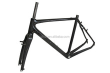 New Arrival Full Internal Cable Carbon Cyclocross Frame 31.6mm Seatpost Carbon Frame 3K/UD V Brake Cyclocross