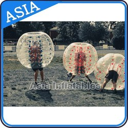 Inflatable bubble ball with color dots/plastic bubble ball for party/ball bubble gum