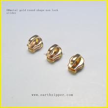 metal gold zipper slider