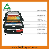 High Quality Powerful Shock/ Dirt/ Water Proof Love Mei Case for Samsung Galaxy Note 3, for note 3 Metal Love Mei Case