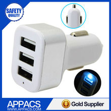 Best selling mobile use 3 usb cell phone car charger