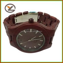 High quality good reputation wooden watch,men hand watch