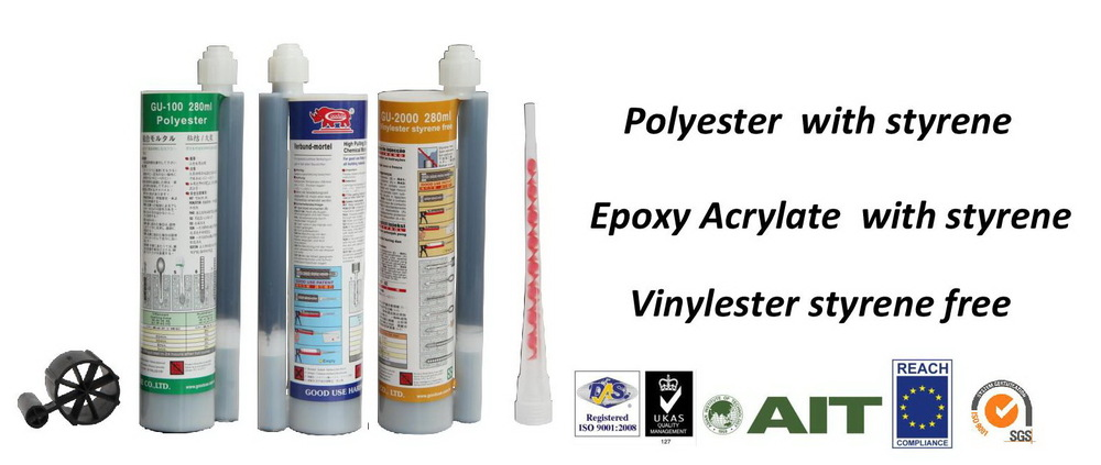 Epoxy Resin / chemical fixings / 300ml silicon gun