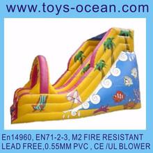 inflatable bouncer slide inflatable fish sliding game inflatable toboggan slide