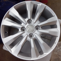 15x6inch silver car wheel rims can be sold by batch