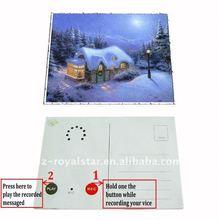 customized postcard sound recording postcard