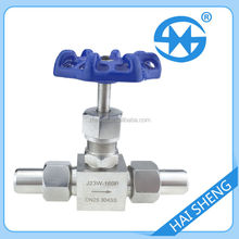 Stainless steel welding type needle valve