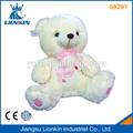 08291 de peluche de felpa oso de juguete de color rosa con arco de la cinta para regalo de cumpleaños