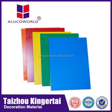 Hot-selling Alucoworld excellent anti-static pvdf aluminum composite panel acp caravan aluminium wall cladding