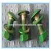 Top quality High quality Zinc Plated Hex Head Guardrail Bolt galvanized hex bolt and nut