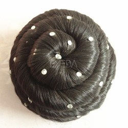 fashion hair accessory black synthetic hair bun