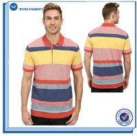 2015 New Style 100% Cotton/Ployester Short Sleeve Pullover Men Polo Shirt
