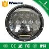 "7"" Round LED Headlights for wrangler led 75W Hi/ Lo beams 7500LM headlight for Hummer Camaro FJ Kit"