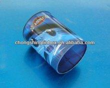Round tin pen holder for office