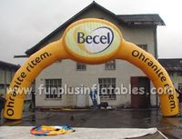 outdoor inflatable event archway/yellow inflatable advertising arch P1001(2)