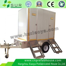 mobile trailer toilets for sale China single Public toilet/ public prefab toilet/ mobile toilet