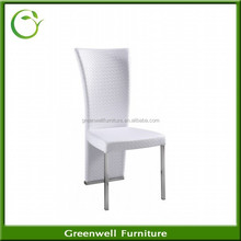 Popular Wholesale Cheap Price PU Leather Metal Chrome Luxury Furniture for Dining Room