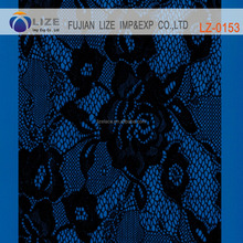 Black lace switzerland fabric voile lace fabric stores in chinaLZ-0153