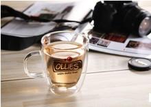 16oz/480ml starbucks coffee mug , double wall glass mug, double wall glass cup