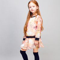 COOL KID ZONE 2015 fashion kids autumn clothes girl dress suit 4 to 14 years old kids girl autumn dress