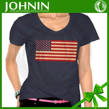 Best quality 2015 fashion love china made couple design High Quality bulk blank custom america flag pattern shirt