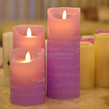 2015 Hot Selling Electric LED Pillar Wax Battery Operated Flicker Candles for Home Dinner Set