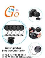 Center pinch Snap-on Front Lens Cap Hood Cover for Nikon Tamron Sigma Sony Canon camera
