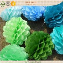 2015 wholesale field decor paper honeycomb ball