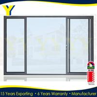 AS2047 aluminum commercial triple tempered glass sliding door
