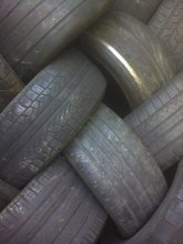 Rubber tire scrap