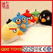 Wholesale floopy soft yellow & black plush baby bird stuffed toy