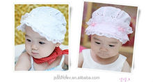New design lace flower baby girl bucket hat